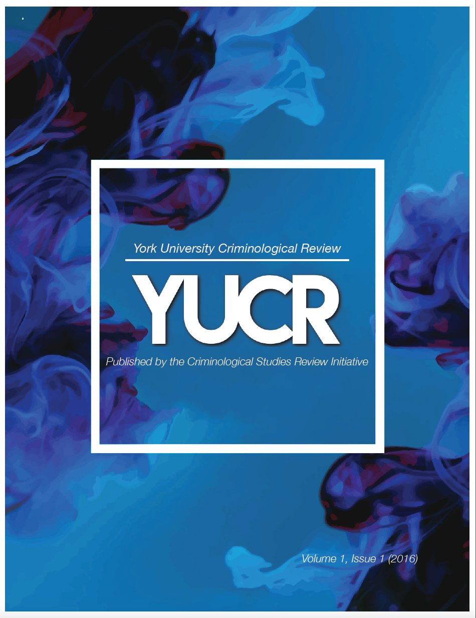 York University Criminological Review volume 1 issue 1 cover
